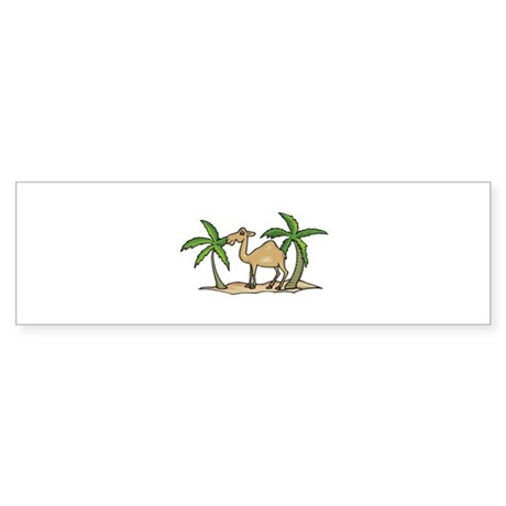 Cute Camel and Palm Trees Des Sticker (Bumper)
