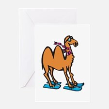 Silly Skiing Camel Greeting Card