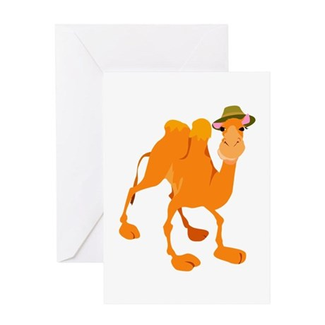 Funny Camel Wearing Hat Greeting Card