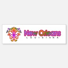 Colorful Sprouting Fleur de lis (pink) Bumper Bumper Sticker