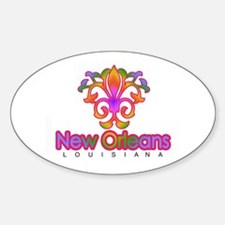 Colorful Sprouting Fleur de lis (pink) Decal