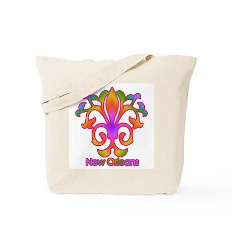 Colorful Sprouting Fleur de lis (pink) Tote Bag