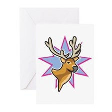 Buck Head Star Design Greeting Cards (Pk of 20)