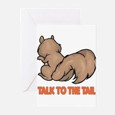 Talk to the Tail Squirrel Greeting Cards (Pk of 20