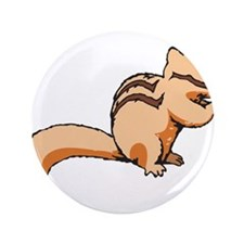 "Light Colored Chipmunk 3.5"" Button"