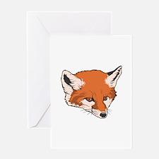 Baby Fox Head Greeting Card