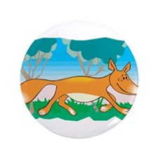 "Silly Sly Fox 3.5"" Button"