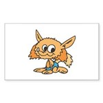 Baby Fox Sticker (Rectangle 10 pk)