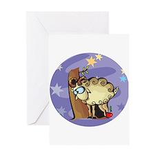 Cute Happy Ram Greeting Card