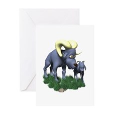 Mommy & Baby Ram Greeting Card