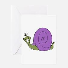 Happy Goofy Snail Greeting Card
