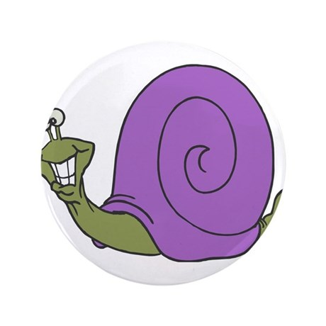 """Happy Goofy Snail 3.5"""" Button (100 pack)"""