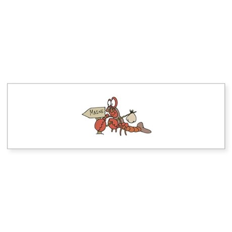Lobster Moving to Maine Sticker (Bumper)