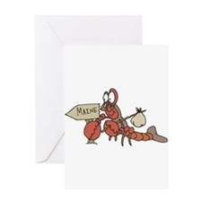 Lobster Moving to Maine Greeting Card
