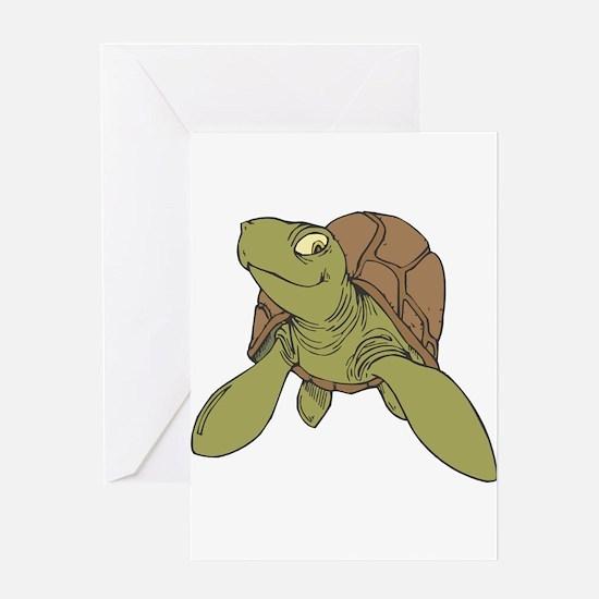 Grinning Sea Turtle Greeting Card
