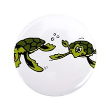"Baby Sea Turtles Swimming 3.5"" Button (100 pa"