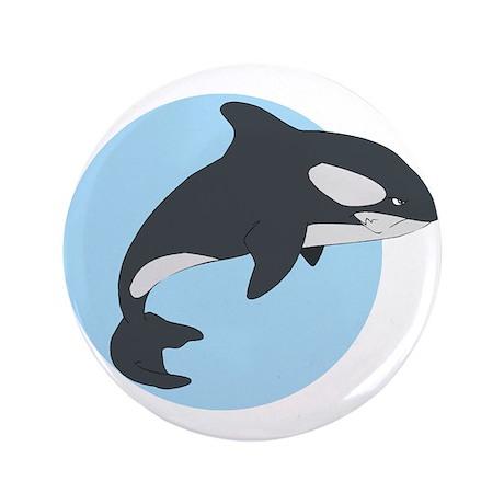 """Cute Killer Whale 3.5"""" Button (100 pack)"""