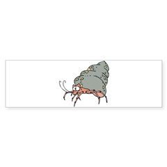 Silly Sneaky Hermit Crab Bumper Sticker