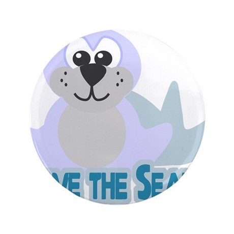 """Save the Seals 3.5"""" Button"""