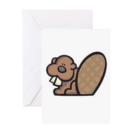 Cute Little Beaver Greeting Card