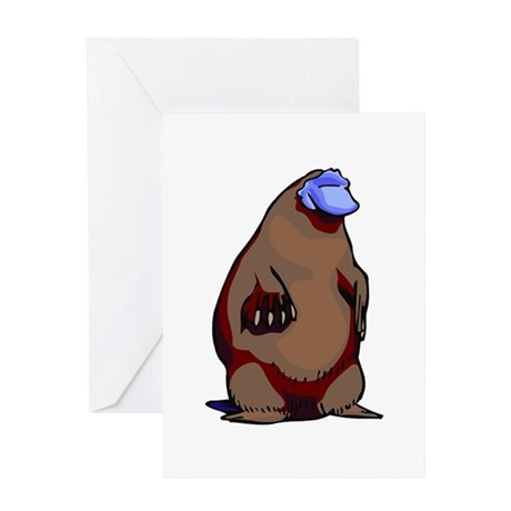 Funny Fat Platypus Greeting Card