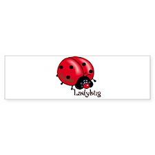Chubby Lil' Ladybug Bumper Bumper Sticker
