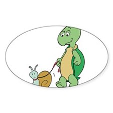 Turtle With Pet Snail Decal