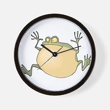 Pot-Belly Frog Wall Clock