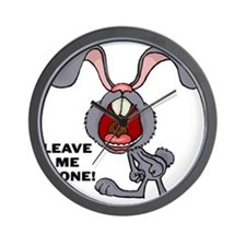 Leave Me Alone Bunny Wall Clock
