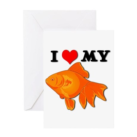 I Love my Goldfish Greeting Card
