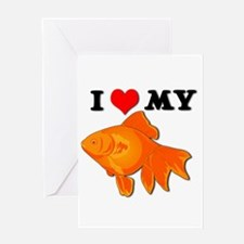 I Love my Goldfish Greeting Card