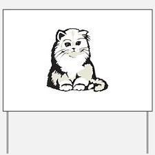 Cute White Persian Kitten Yard Sign