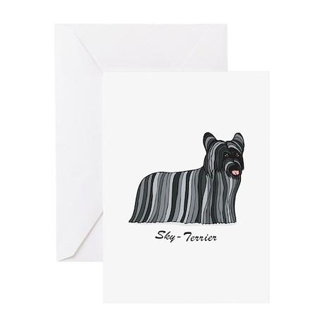 Skye-Terrier Greeting Card