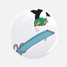 """Funny Diving Penguin 3.5"""" Button"""