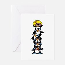 Penguin Totem Pole Greeting Cards (Pk of 20)