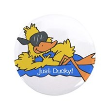 """Ducky on a Raft 3.5"""" Button"""