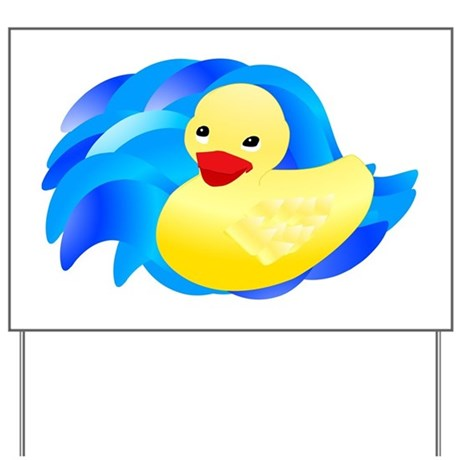 Rubber Ducky Yard Sign