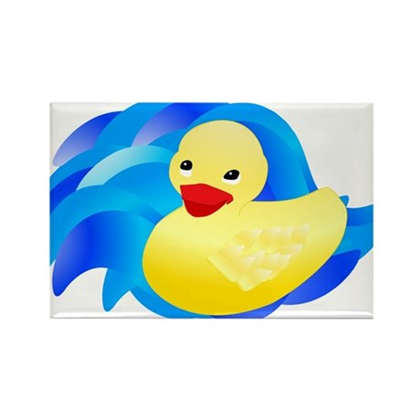 Rubber Ducky Rectangle Magnet (100 pack)
