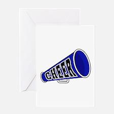 Blue Cheer Megaphone Greeting Card