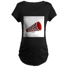 Red Cheer Megaphone T-Shirt