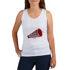 Red Cheer Megaphone Women's Tank Top