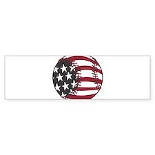 USA Stars and Stripes Basebal Bumper Sticker