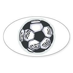 Soccer Ball Sticker (Oval 50 pk)