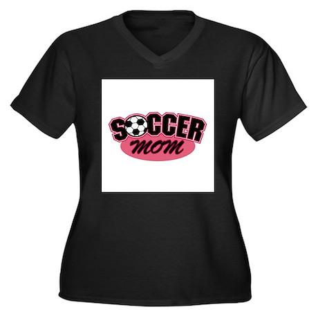 Pink Soccer Mom Design Women's Plus Size V-Neck Da