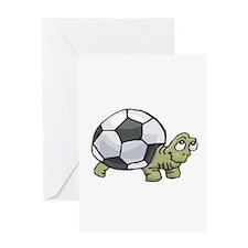 Soccerball Turtle Greeting Card