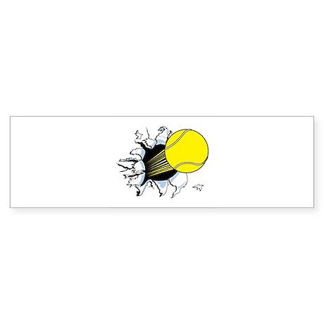 Tennis Ball Ripping Through Sticker (Bumper 10 pk)