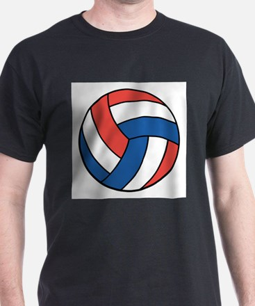 Red, White and Blue Volleybal T-Shirt