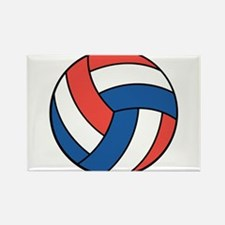 Red, White and Blue Volleybal Rectangle Magnet