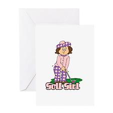 Golf Girl Greeting Card