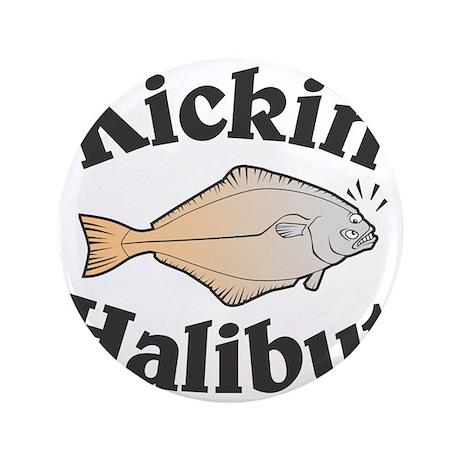 "Kickin' Halibut 3.5"" Button (100 pack)"